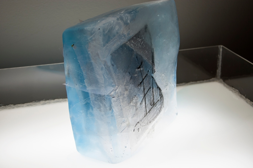 ice, melt, sculpture, Katie Jacobs, ship, Endurance, Shackleton