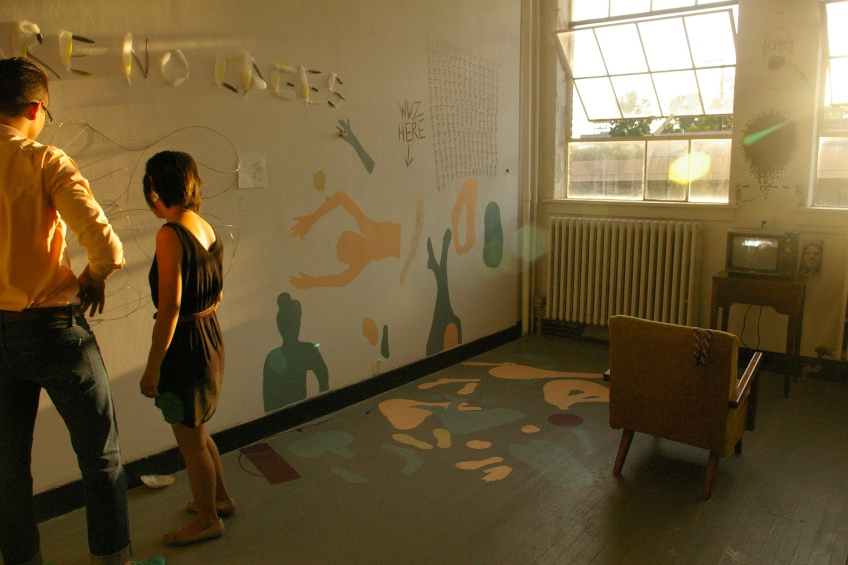 Painting, sculpture, time, pastel, wall, space, fuller space, Indiana University