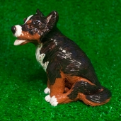 Border collie, dog, West Village, New York, clay, slips, Greenwich House Pottery