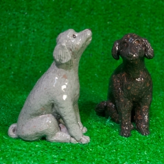 Dogs, poodles, grey, black, Greenwich House Pottery, West Village