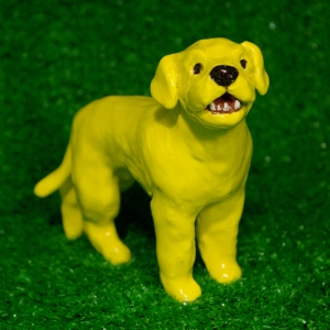Dog, toby, Blonde, yellow lab, labrador, West Village, New York, Greenwich House Pottery