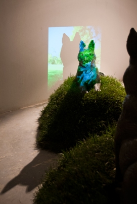 Dogs, Ceramic, projector, light, artwork, Indiana University