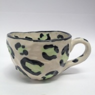 Leopard print, cup, fashion, ceramic, brown, food styling, stylist, ceramic, clay