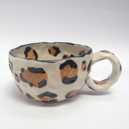 Leopard print, cup, fashion, ceramic, brown, food styling, stylist, ceramic, clay