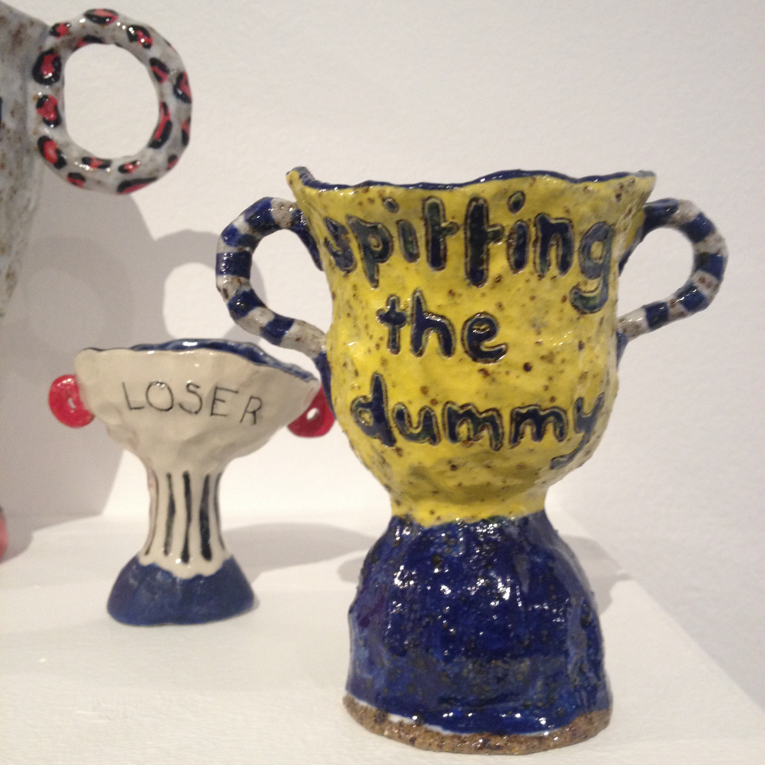 trophy, sports, achievement, australiana, cliche, sayings, sentiments, clay, ceramics